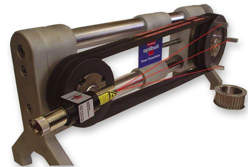 Laser - a device for adjusting the alignment of washers