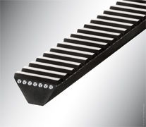 Polyurethane wide-angle belts